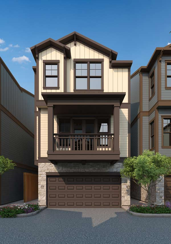 Villas at Garrett – Exterior Rendering